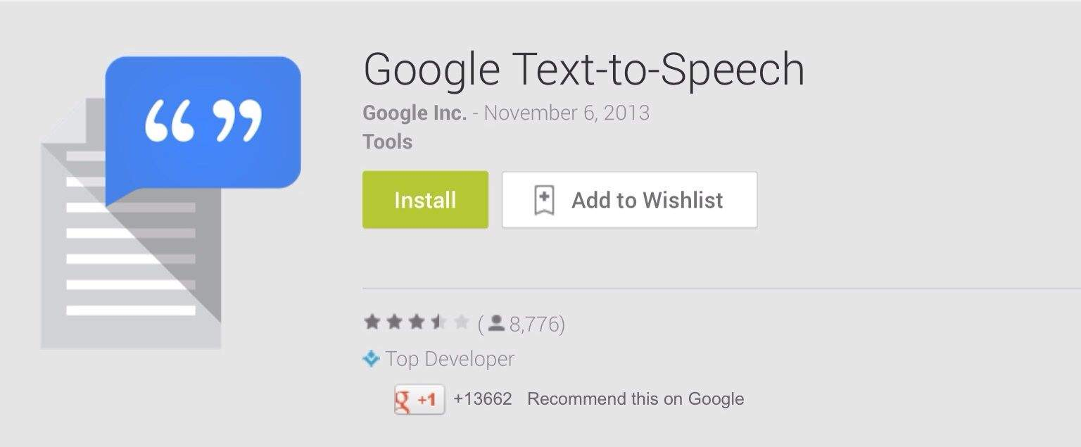 Cult of Android  Google Launches Dedicated TextToSpeech