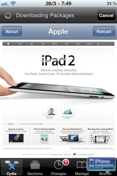 Cydia Apple Store