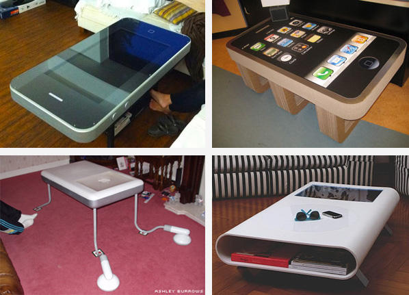 geek trend the iphone coffee table
