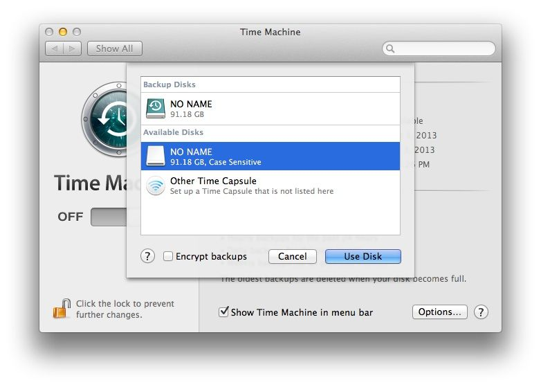 Encrypt Your Time Machine Backup Disks For Extra Security