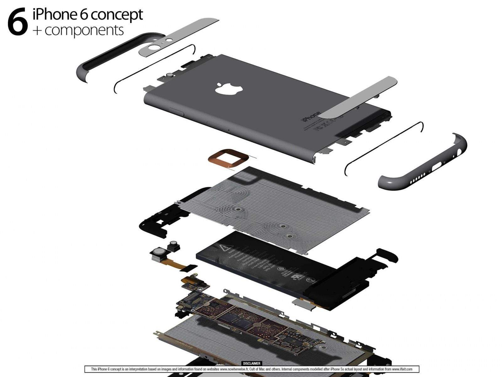 iphone 4s parts diagram kenwood kvt 512 wiring 2 this is the 6 in all its glory cult of mac