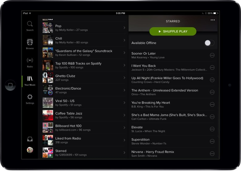 Spotify finally gets it together on the iPad