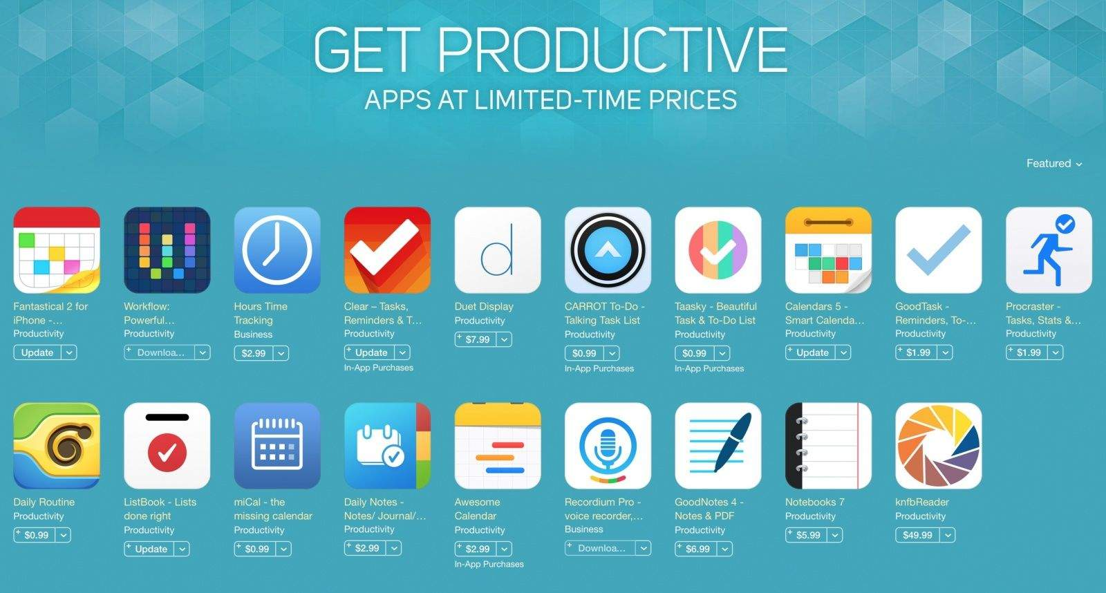 The App Store Is Having A Blowout Sale On Productivity Apps