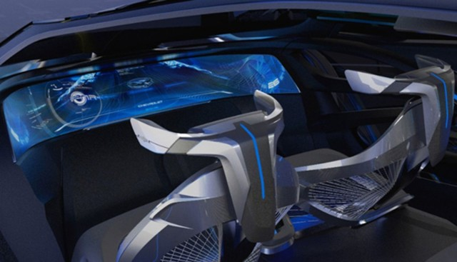 The capsure of the FNR includes front seats that swivel when the car is autonomous driving mode. Photo: General Motors/Shangai Motor Show