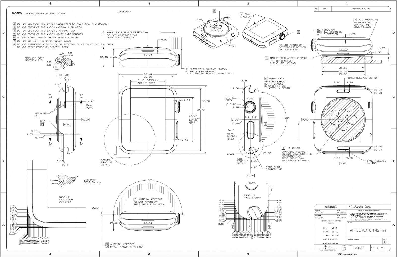 Design Nerds Will Love This Beautiful Apple Watch Schematic