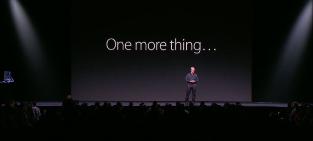 "Tim Cook announces ""one more thing"" at WWDC 2015."