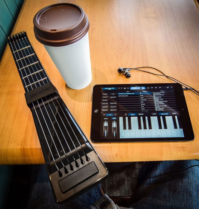 Learn music and record it to your favorite Apple device with the Jamstik+ smart guitar.