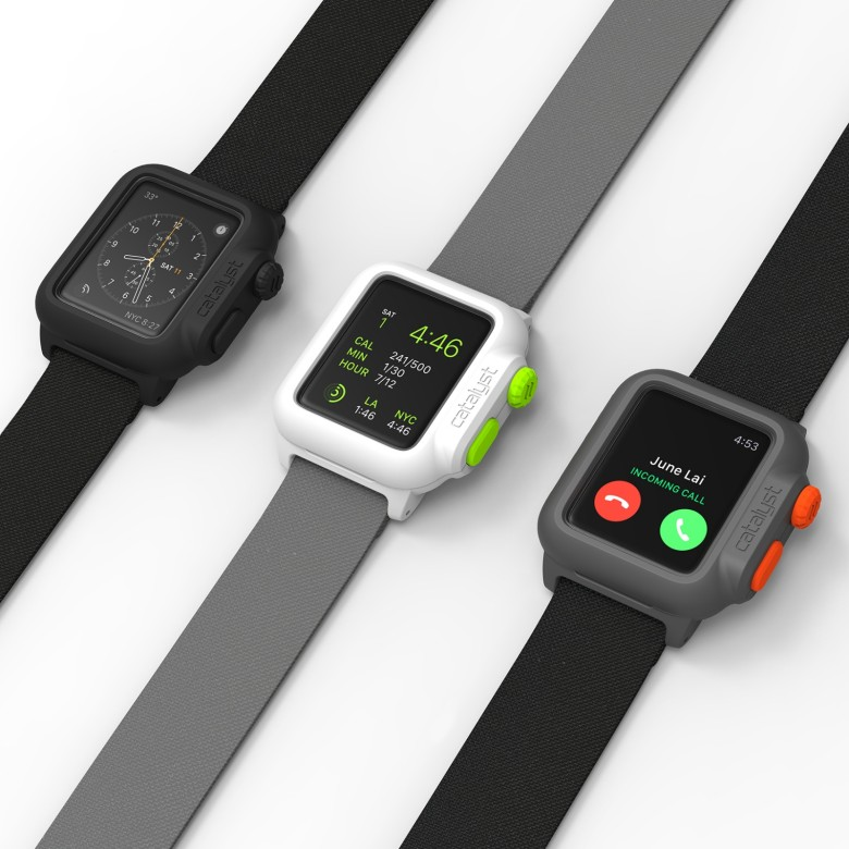 The cases come in three colors, work with all the functions of the Apple Watch and begin shipping in November.