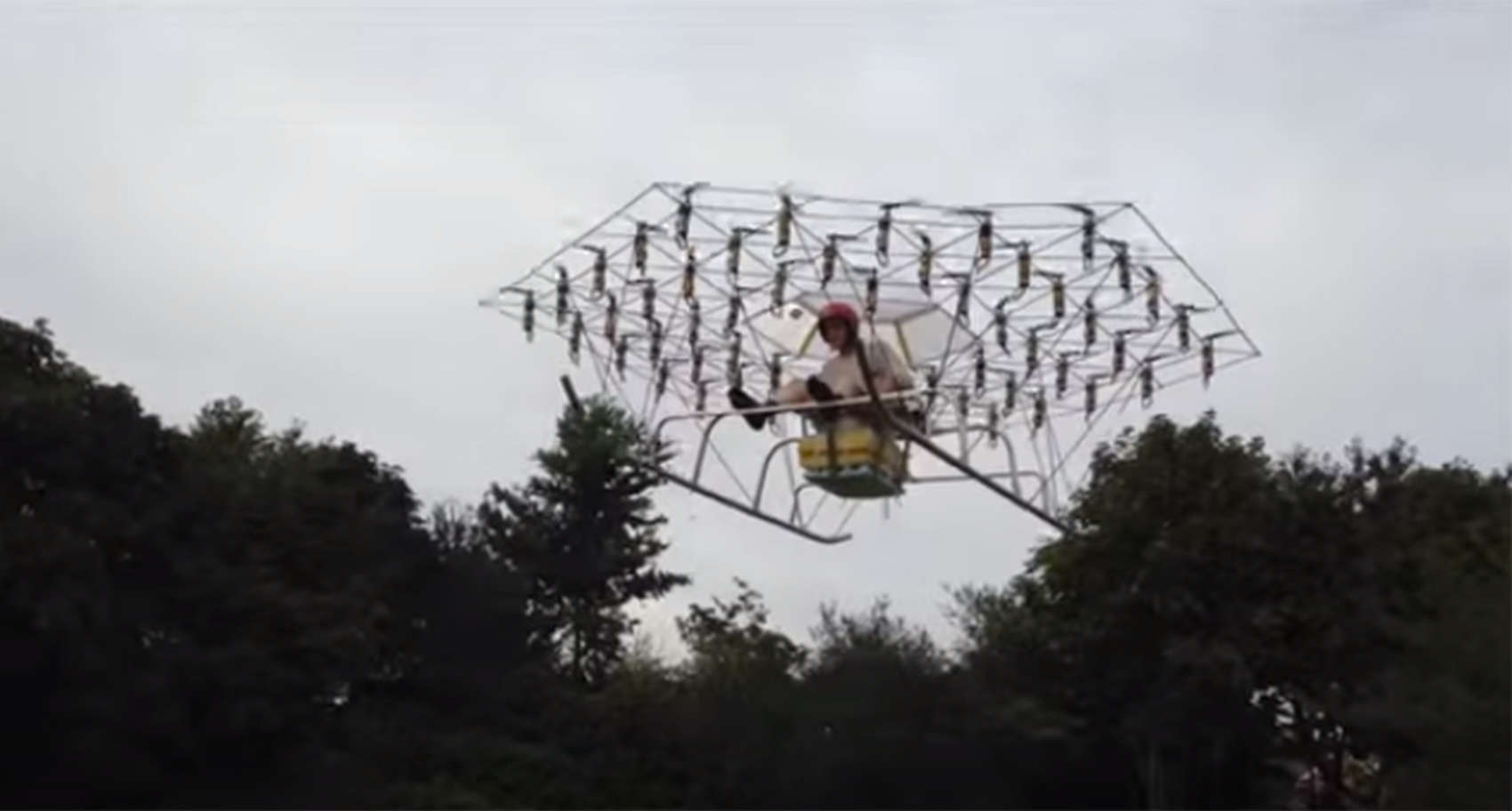 chair with balloons rocking replacement seat slats first manned drone uses 54 propellers | cult of mac