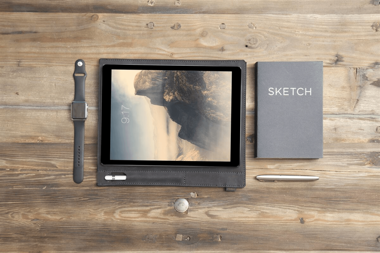 You'll want this pretty leather sleeve for your iPad Pro and Apple Pencil