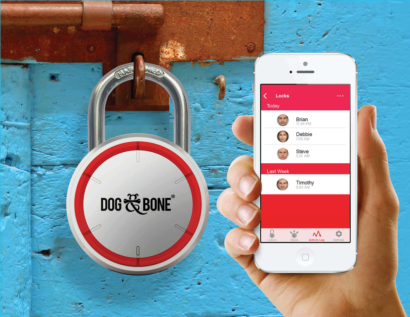The LockSmart is secured thanks to Bluetooth with 128-bit encryption.