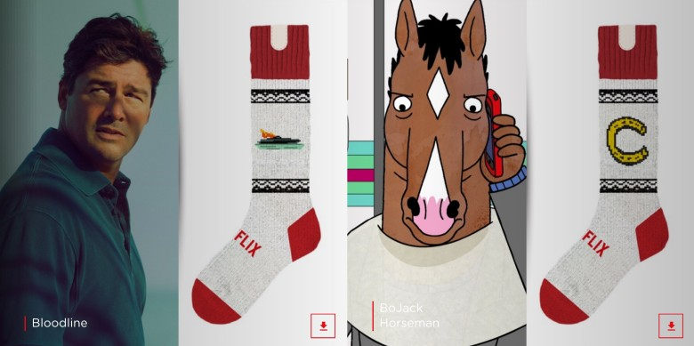 With socks like these, you'll be the hit of any Netflix party.