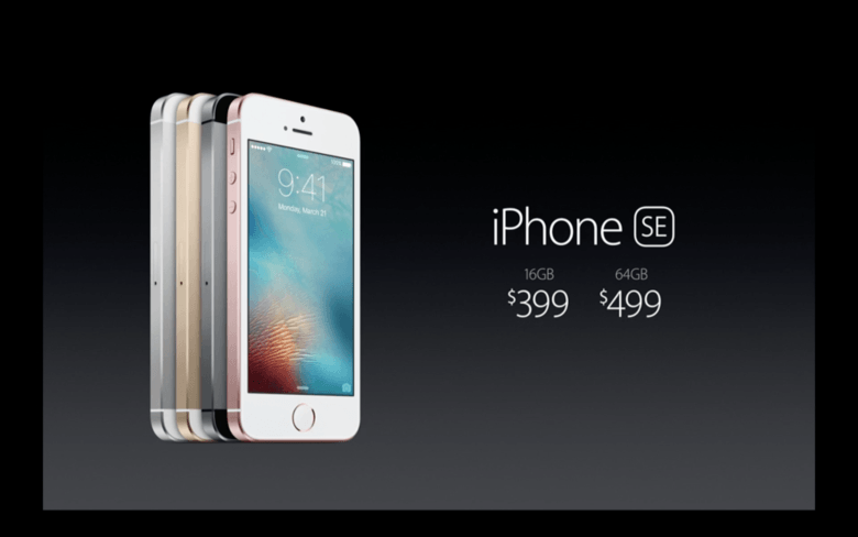 iPhone SE pricing