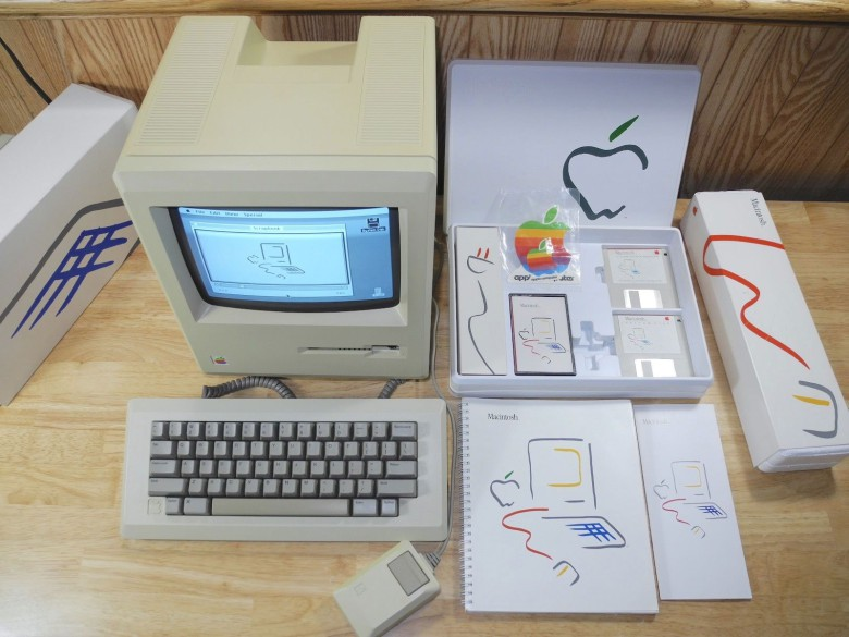 The first Macintosh from 1984 is among many coveted Apple collectibles.