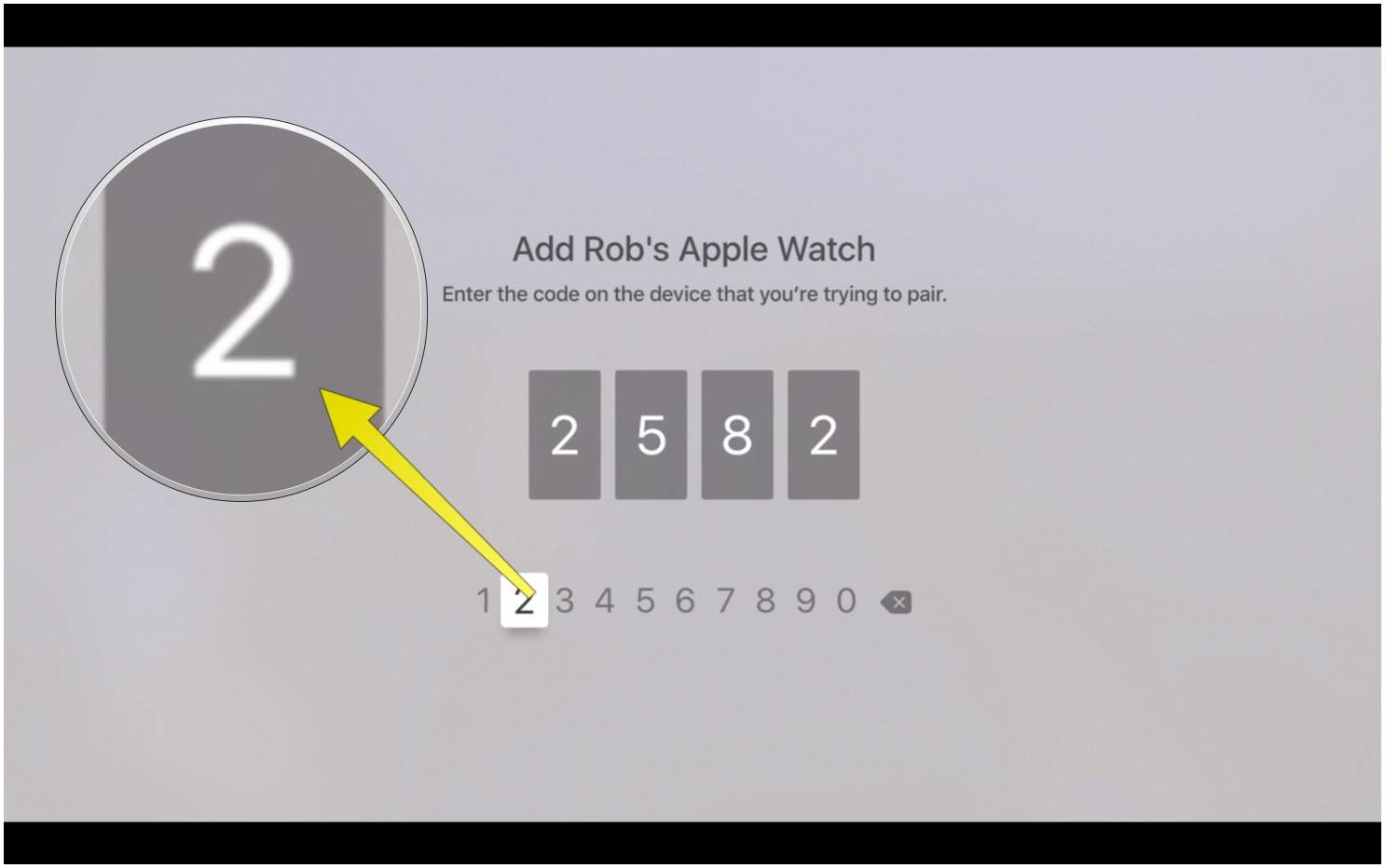 hight resolution of type in the code from your apple watch here