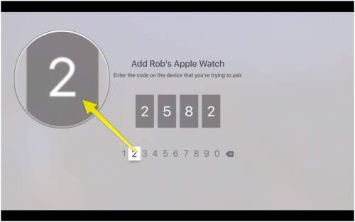 small resolution of type in the code from your apple watch here