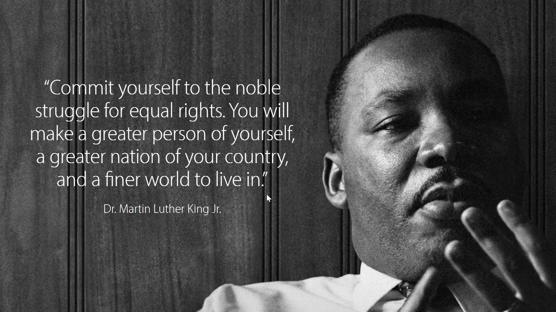 Apple Commemorates Martin Luther King Jr Day