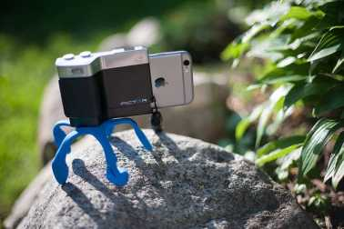 iphone camera stand on rock