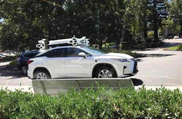 Apple's second-generation autonomous car sensor rack