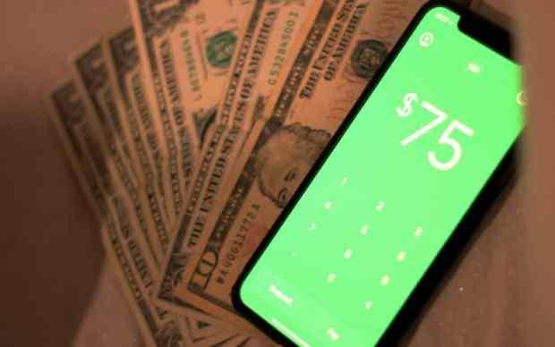 Cash app with cash money