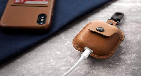 This gorgeous leather case won't let you lose your AirPods