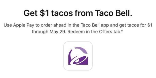 Apple Pay Taco Bell promo