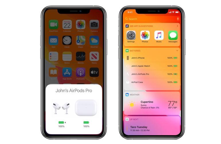 Kiểm tra mức pin AirPods Pro từ iPhone.