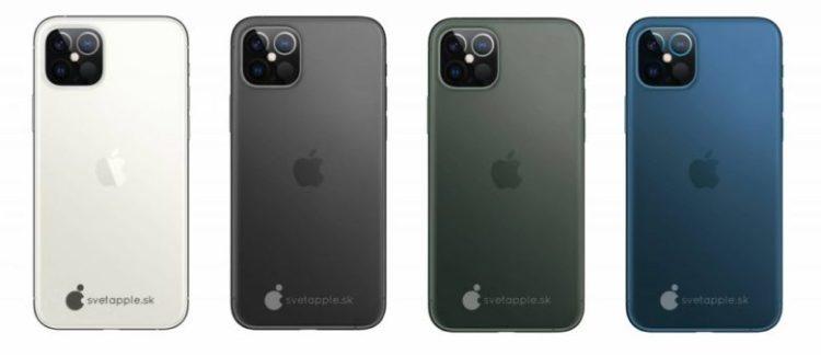 IPhone 12 2020 có thể có nhiều màu.