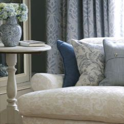 Printed Fabric Sofa Designs Reupholster With Attached Cushions Fairmont Collection   Clarke And Curtains ...