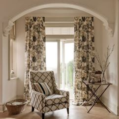 Floral Upholstered Chair Cover Hire York Margherita Fabric Collection | Clarke And Curtains & Roman Blinds