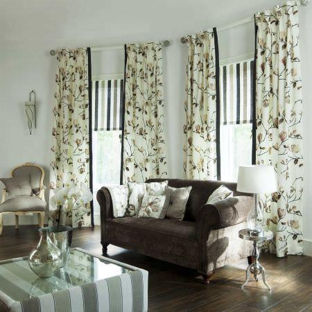 living room curtain ideas uk denim furniture rooms english rose fabric collection | prestigious textiles ...