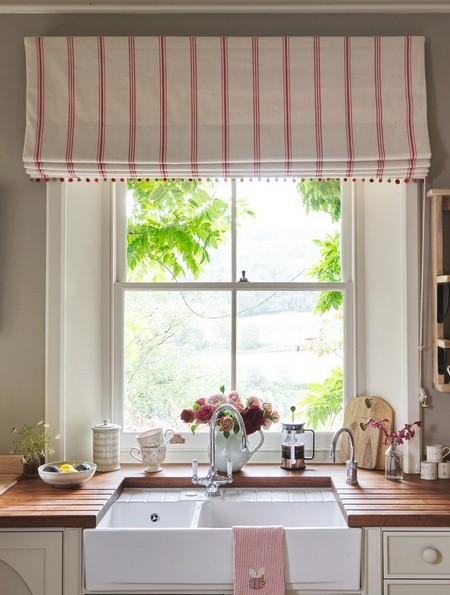 kitchen curtain patterns faucets delta susie watson designs fabric collection | ...
