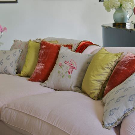 pink sofa browse uk target sure fit slipcovers susie watson designs fabric collection | ...