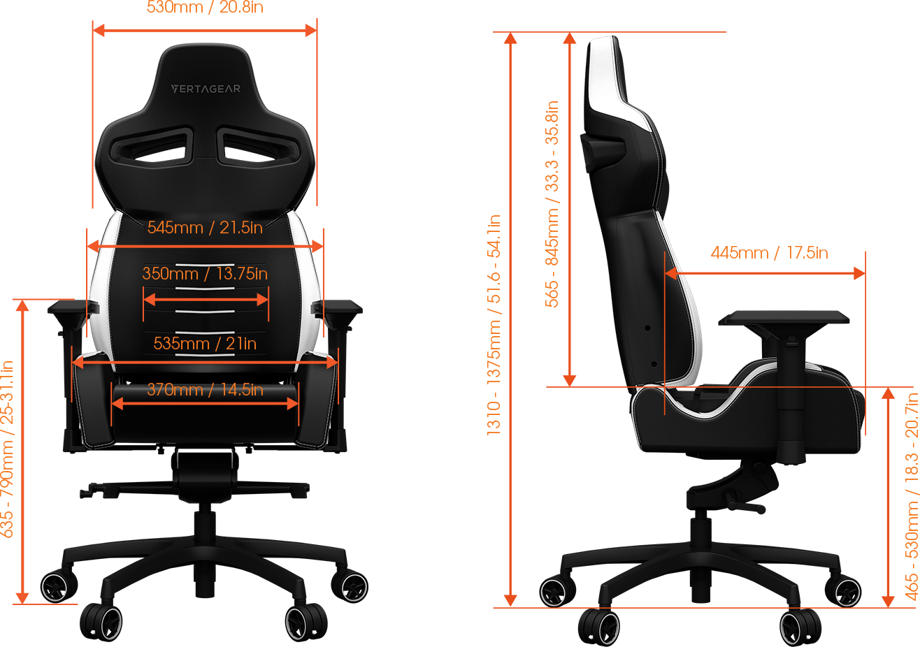 Cloud 9 Gaming Chair Vertagear Pl4500 Big And Tall Gaming Chair Up To 440lbs