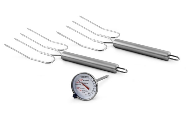 Taylor Meat Thermometer & Turkey Lifter Set, 3 Piece