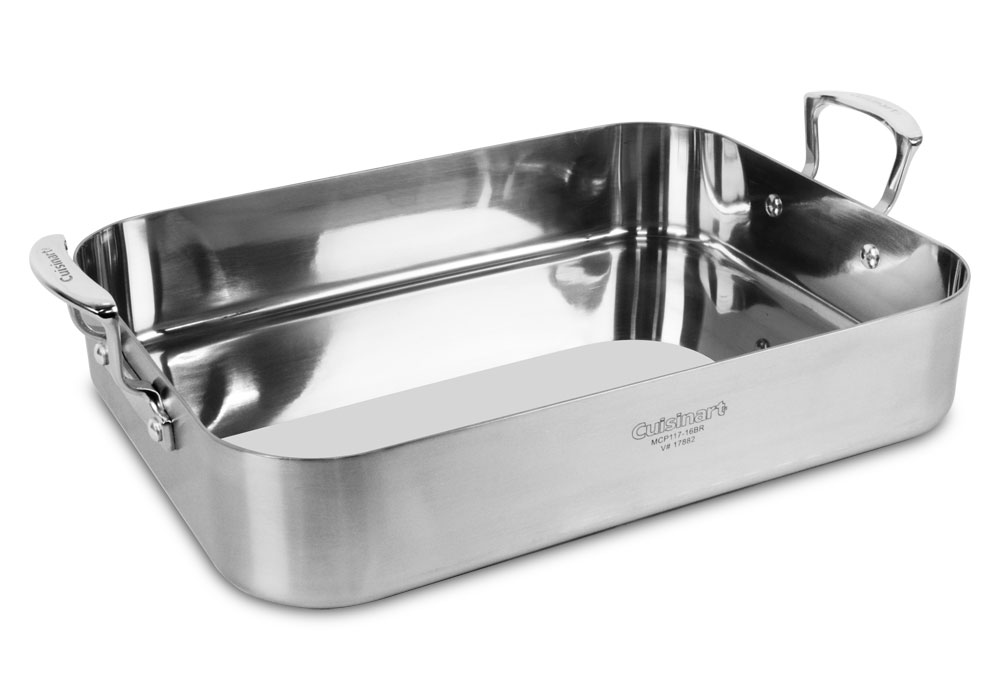 Cuisinart MultiClad Pro Stainless Steel Roasting Pan with Rack 16x13  Cutlery and More