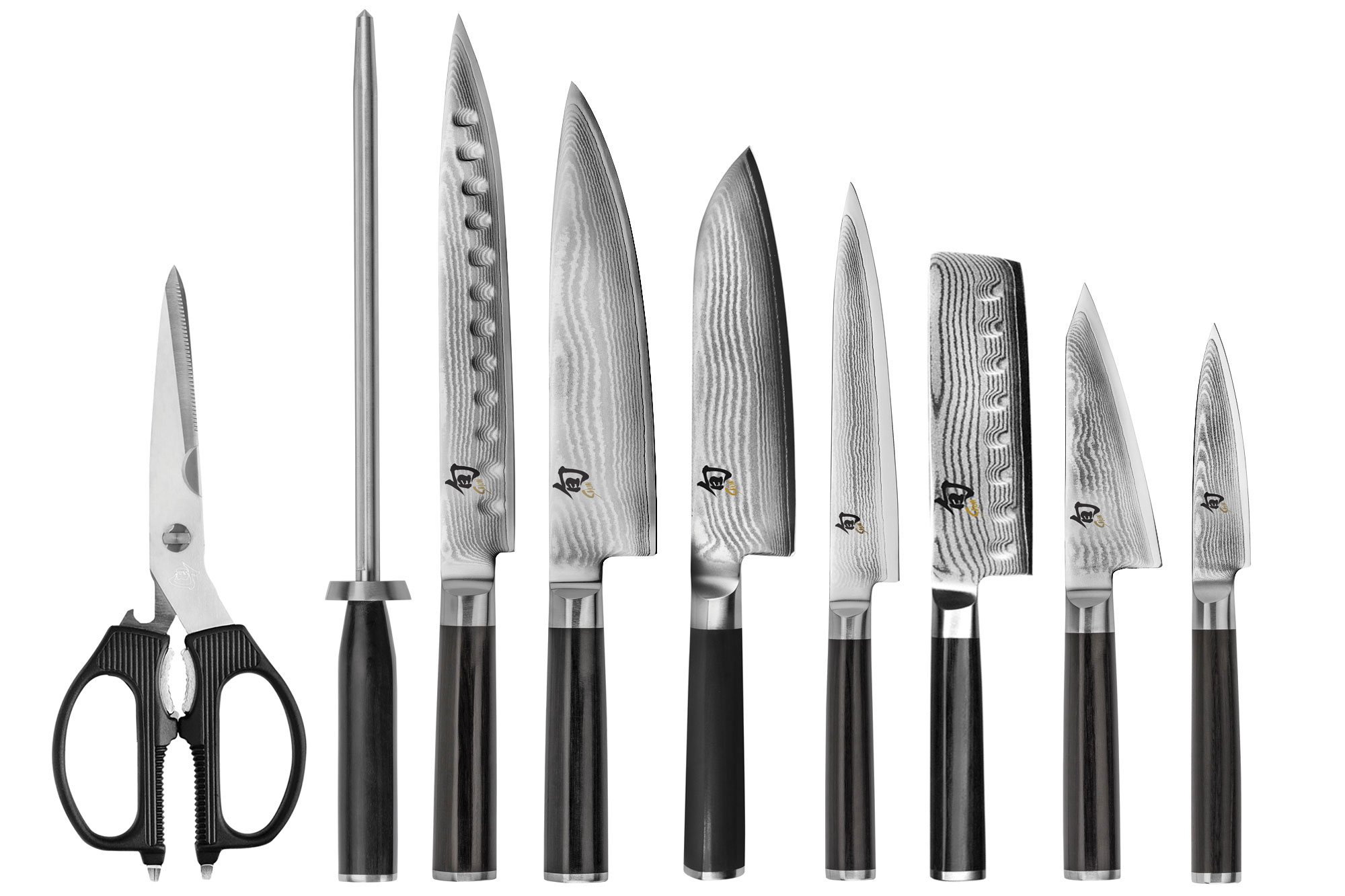 henckels kitchen shears one handle faucet shun classic knife set 10-piece block - japanese chef ...