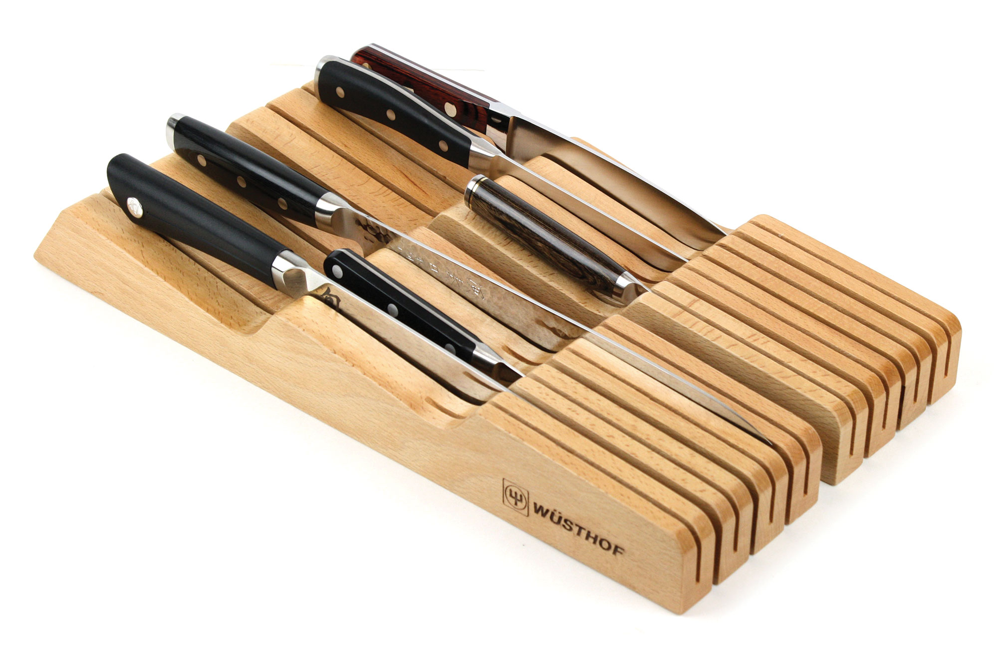 Wusthof InDrawer Knife Storage Tray 14 Slot Natural
