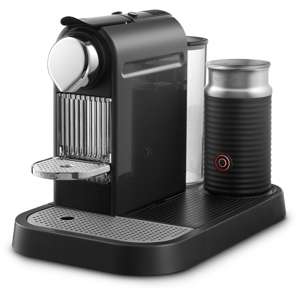 red kitchen knife block set black hardware nespresso citiz coffee & espresso maker with milk frother ...
