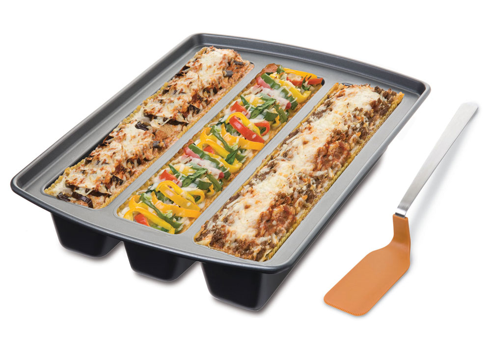 Chicago Metallic Nonstick Lasagna Trio Pan  Spatula Set