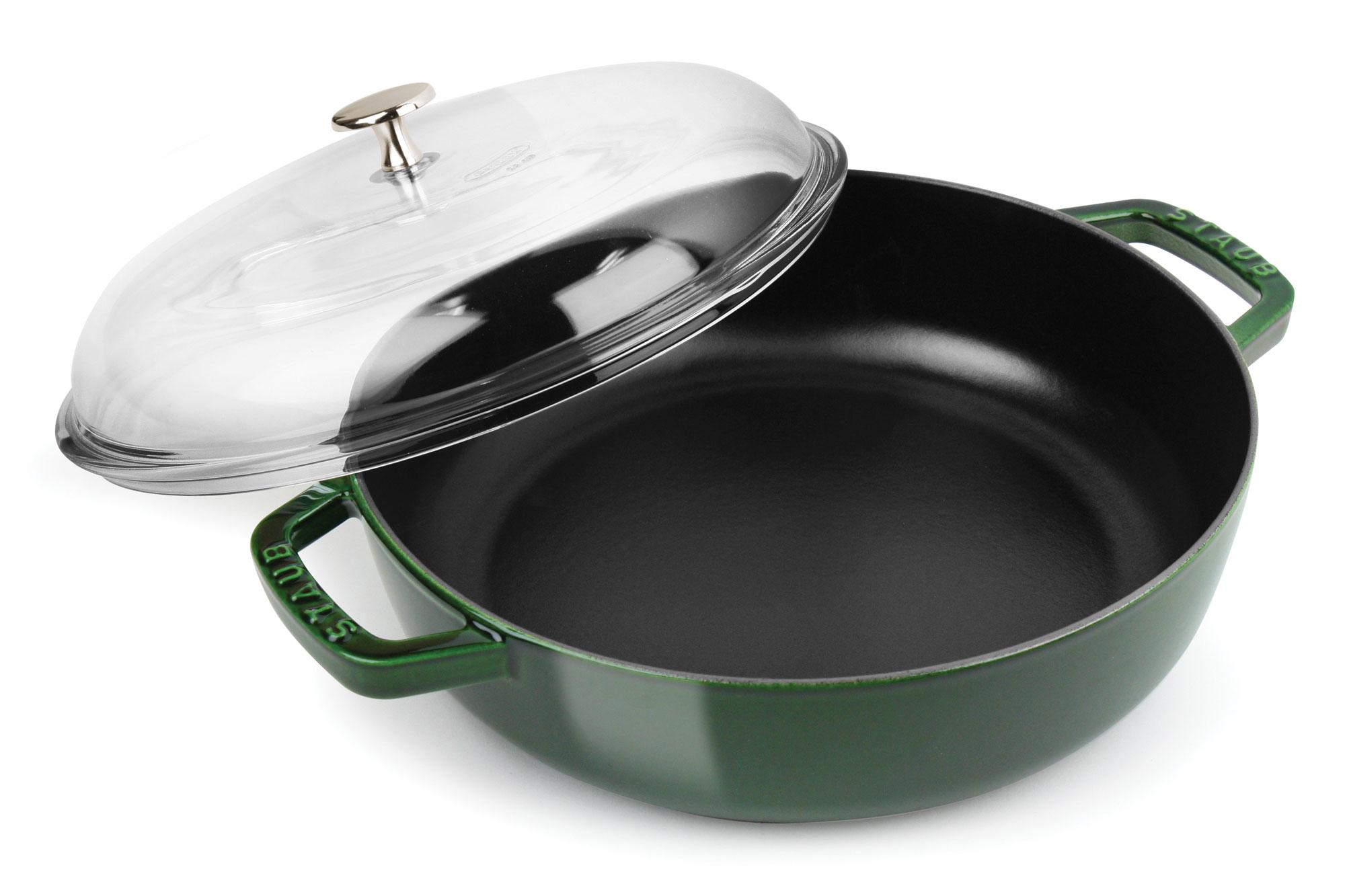 Staub Universal Pan with Domed Glass Lid 4quart Basil