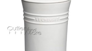 Le Creuset Stoneware Canister, 5 Quart White Cutlery And
