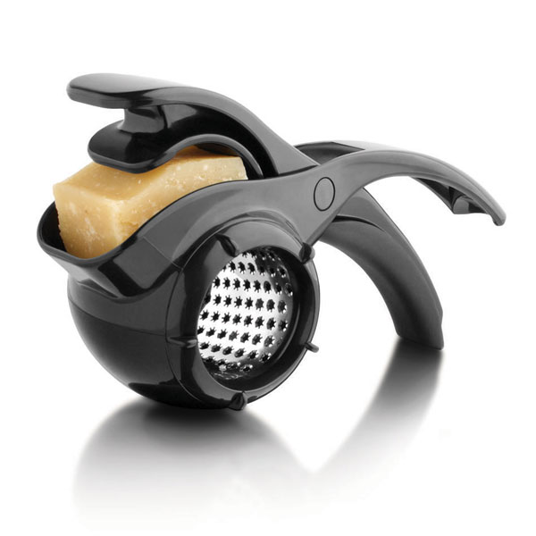 Microplane Parmesan Cheese Rotary Grater Black  Cutlery