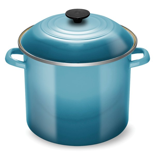 Le Creuset Enameled Steel Stock Pot 12-quart Caribbean Cutlery