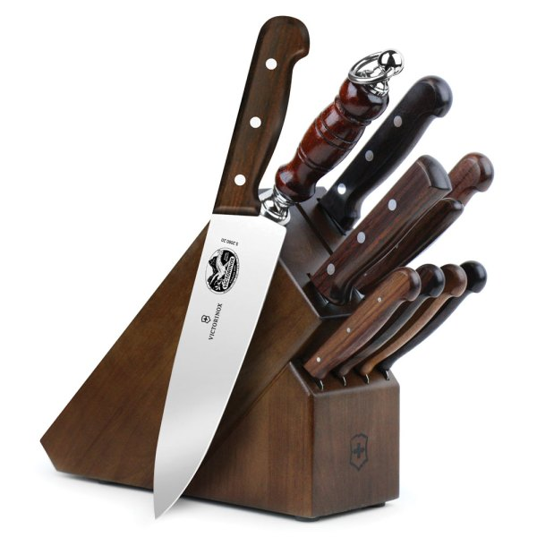 Victorinox Rosewood Knife Block Set 11 Piece Cutlery