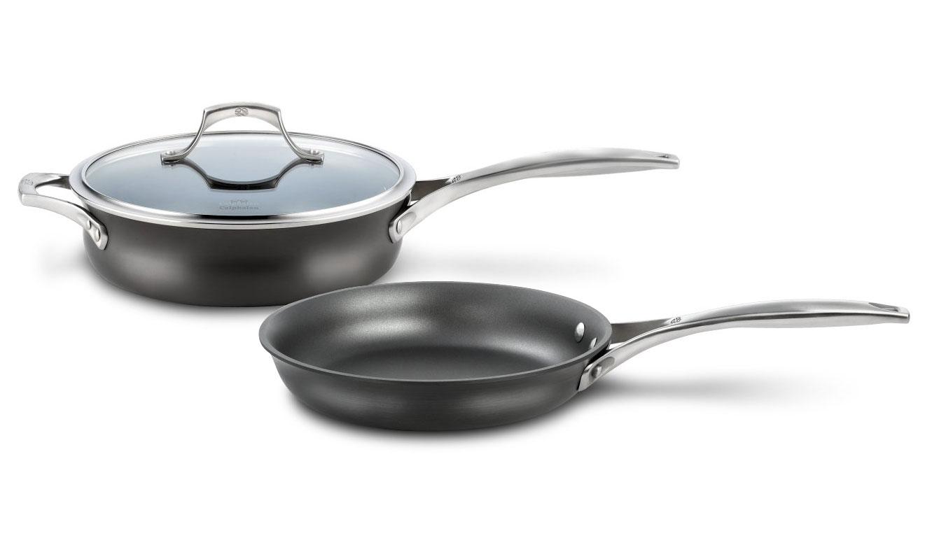 ceramic kitchen knives cabinet pictures calphalon unison 3-quart saute pan & 10-inch skillet set ...