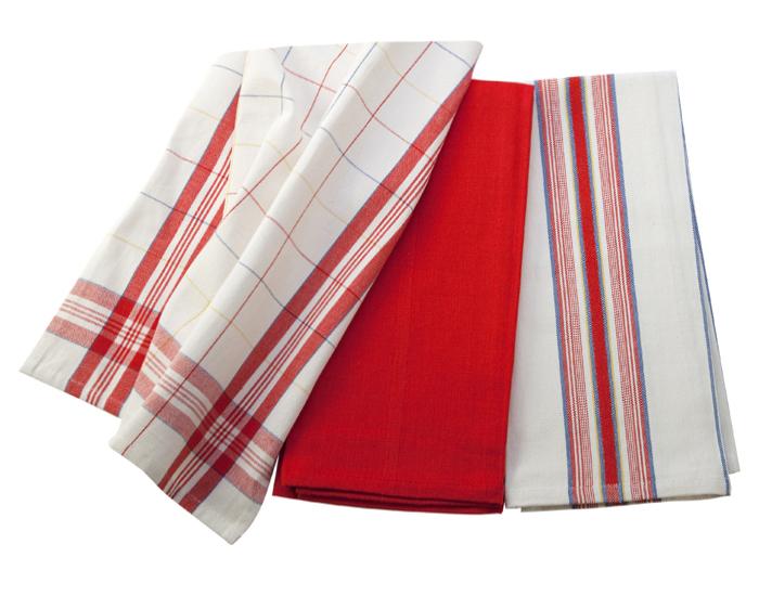Le Creuset Kitchen Towel Set 3 Piece Cherry Red
