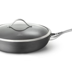 Kitchen Mandoline Best Cleaner For Cabinets Calphalon Contemporary Nonstick Deep Skillet With Lid, 13 ...