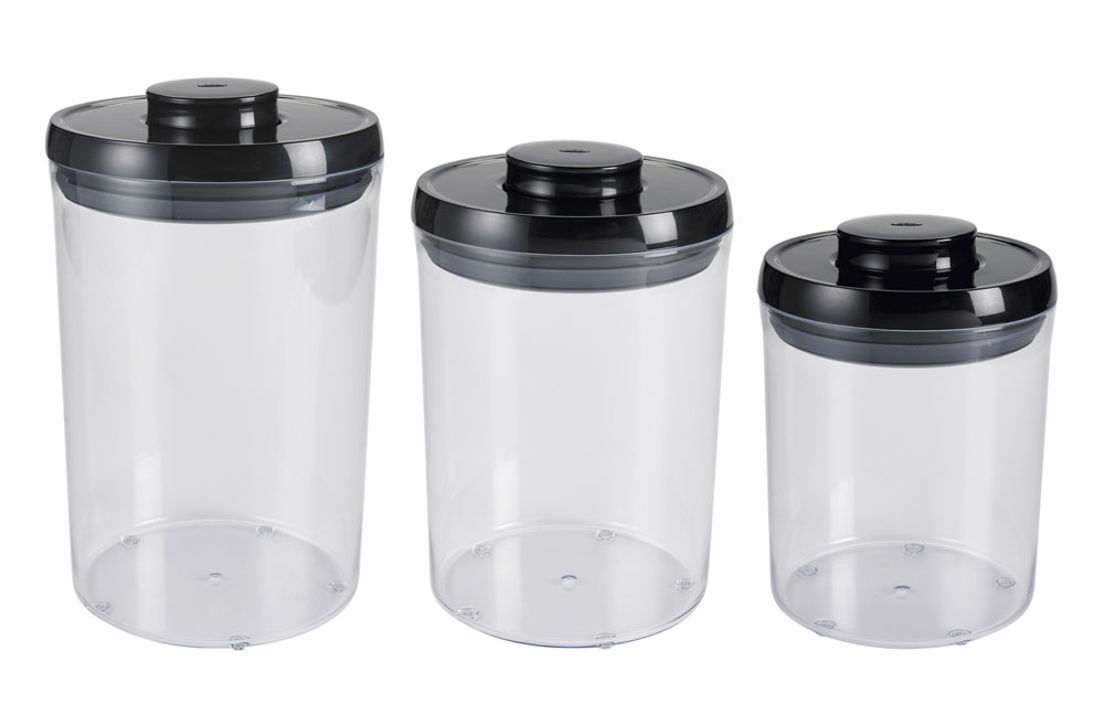 Oxo Good Grips POP Round Canister Set 3 Piece Black