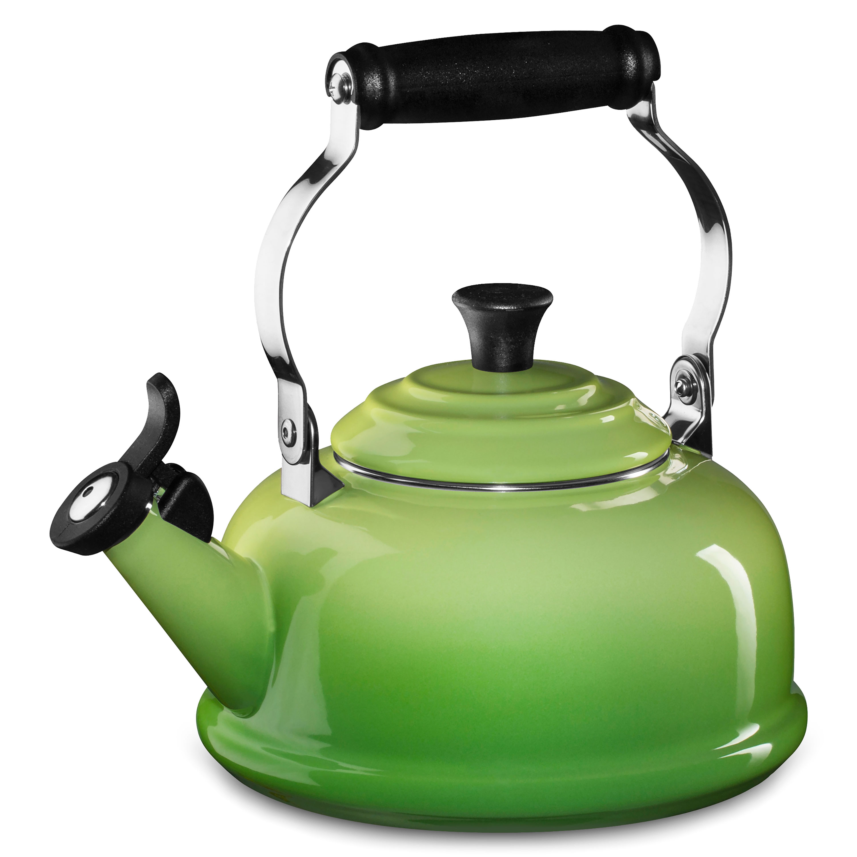 Le Creuset Enameled Steel Whistling Tea Kettle 18quart Palm  Cutlery and More